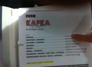 Kafka The Musical Script