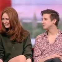 Karen Gillan e Arthur Darvill a BBC Breakfast.