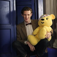 Matt Smith sul set del Children in Need.