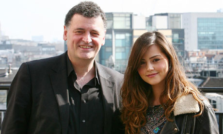 Jenna-Louise Coleman with Steven Moffat