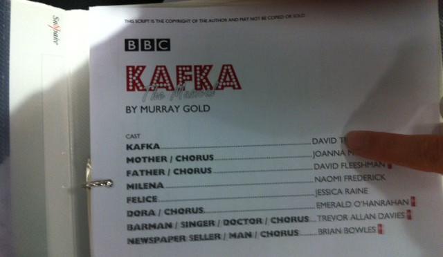 Kafka The Musical Script